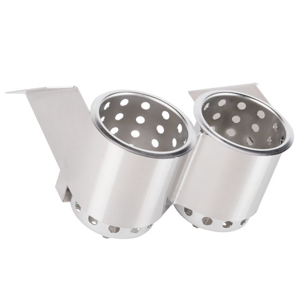 Steril-Sil UB-2SS Two Hole Under Bar Silverware Dispenser with Two S-500 Cylinders