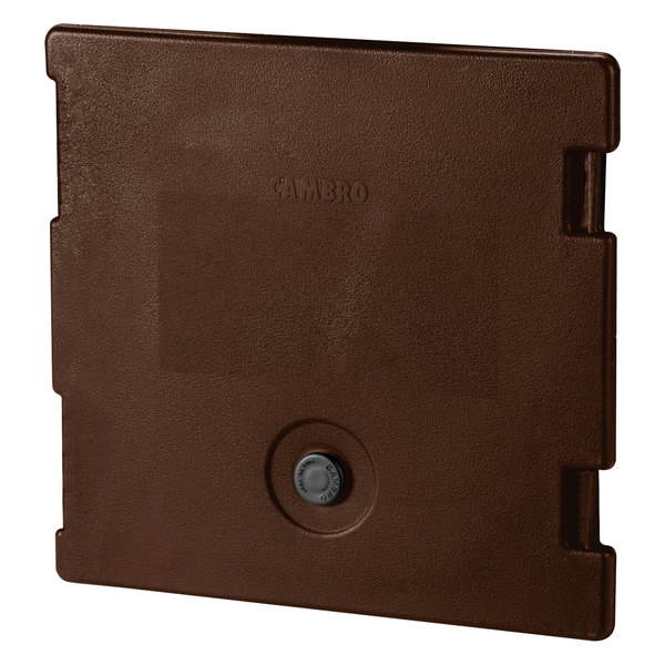 Cambro 6318131 Dark Brown Camcarrier Replacement Door with Gasket and Vent Cap