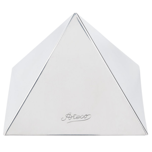 "Ateco 4937 4 3/4"" Stainless Steel Large Pyramid Mold"