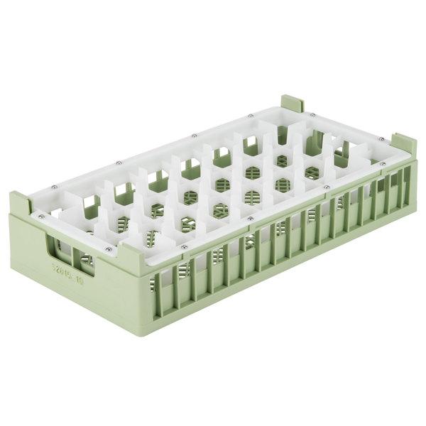 "Vollrath 52819 Signature Half-Size Light Green 32-Compartment 5 11/16"" Medium Rack"