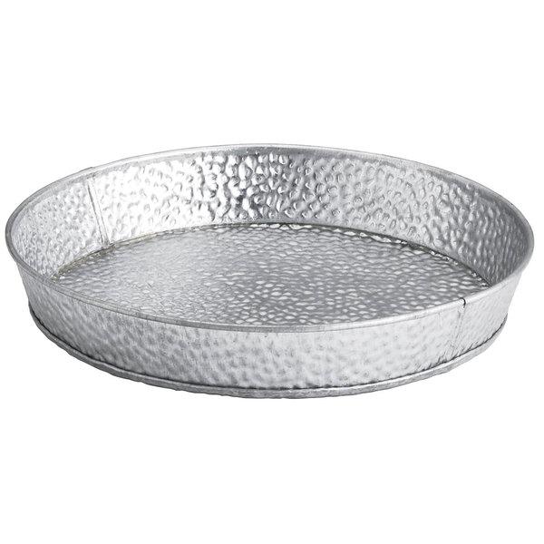 """Tablecraft GP8 8 1/2"""" Round Galvanized Steel Diner Platter"""