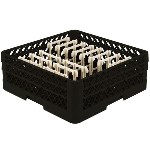 "Vollrath TR3AAP14 Traex® Black Extended Peg Rack for 12 1/4"" Diameter Plates"