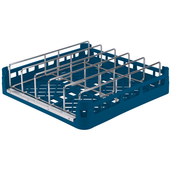 Vollrath 52669 Signature Full-Size Royal Blue Open End Steam Table Pan Rack