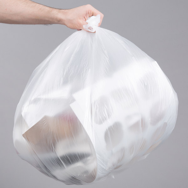"33 Gallon 13 Micron 33"" x 40"" Lavex Janitorial High Density Can Liner / Trash Bag - 500/Case Main Image 3"