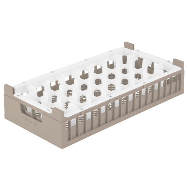 "Vollrath 52828 Signature Half-Size Cocoa 32-Compartment 7 3/16"" Tall Rack"