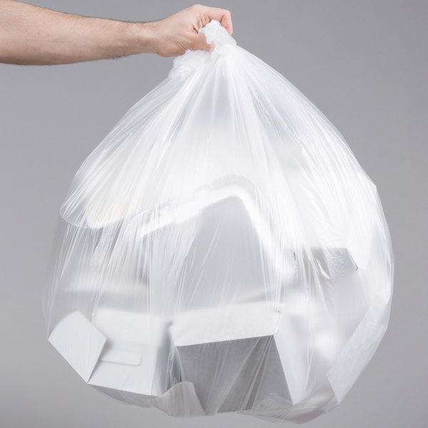 "45 Gallon 12 Micron 40"" x 48"" Lavex Janitorial High Density Can Liner / Trash Bag - 250/Case Main Image 3"