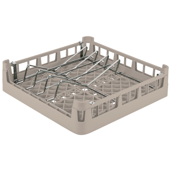 Vollrath 52664 Signature Full-Size Beige Open End Sheet Pan / Tray Rack
