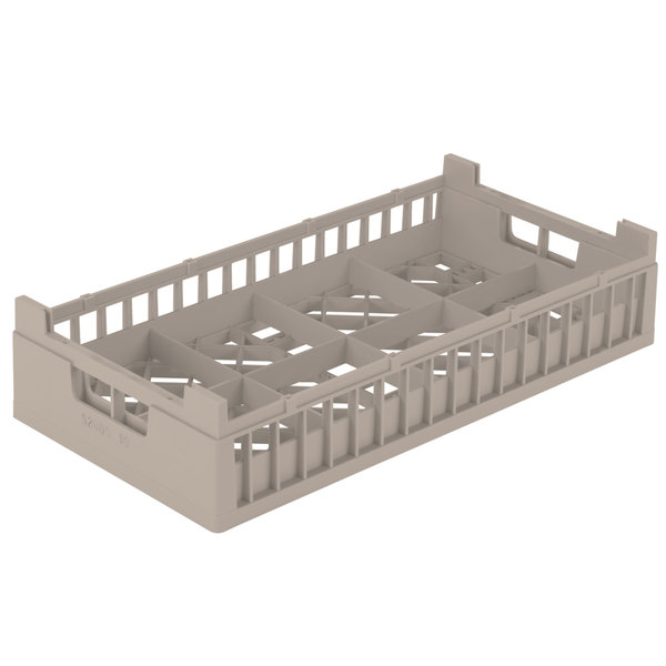 """Vollrath 52805 Signature Half-Size Beige 8 Compartment 4 1/8"""" Tall Cup Rack"""