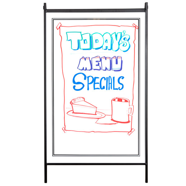 24 X 36 White Write On Sign Board For A Frame Easel Sidewalk Sign