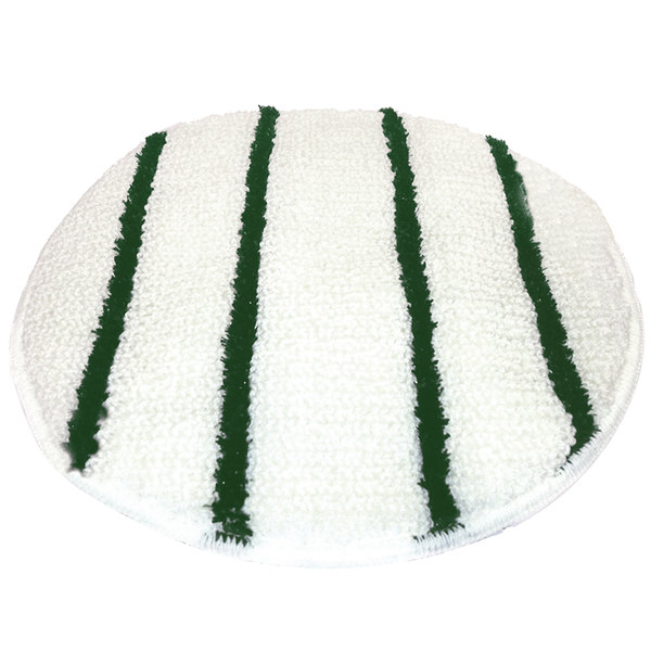 "Scrubble by ACS 202-17 17"" Carpet Bonnet with Green Scrubber Strips - 6/Case"