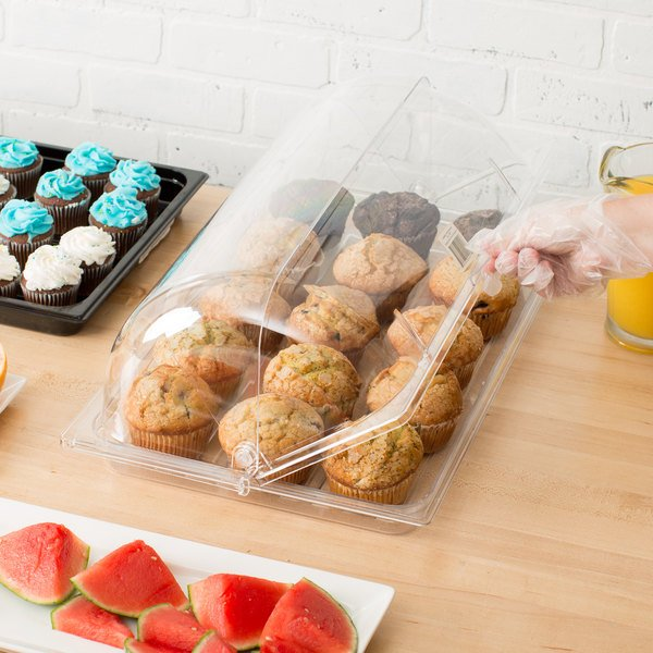"""Sample and Display Tray Kit with Clear Polycarbonate Tray and Roll Top Cover - 12"""" x 20"""""""