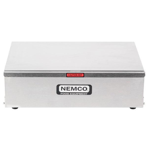 Nemco 8024-BW Hot Dog Bun Warmer for 8010 Series Roller Grills - Holds 24 Buns
