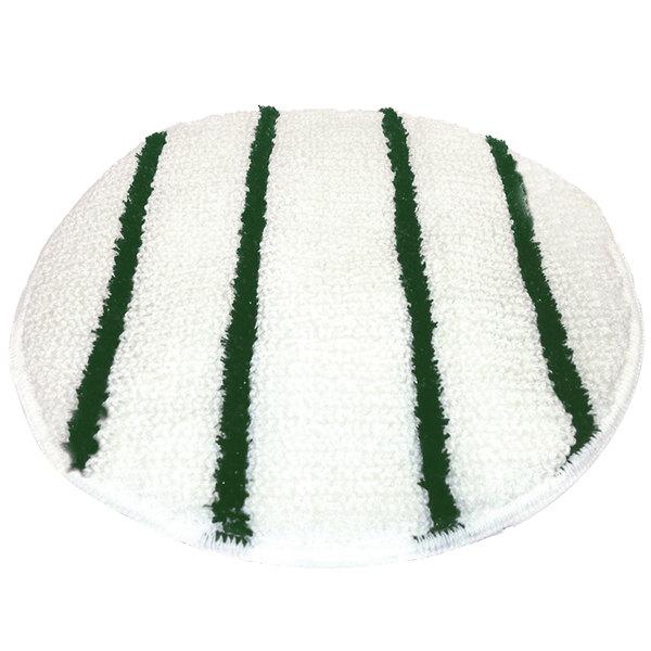 "Scrubble by ACS 202-21 21"" Carpet Bonnet with Green Scrubber Strips - 6/Case"
