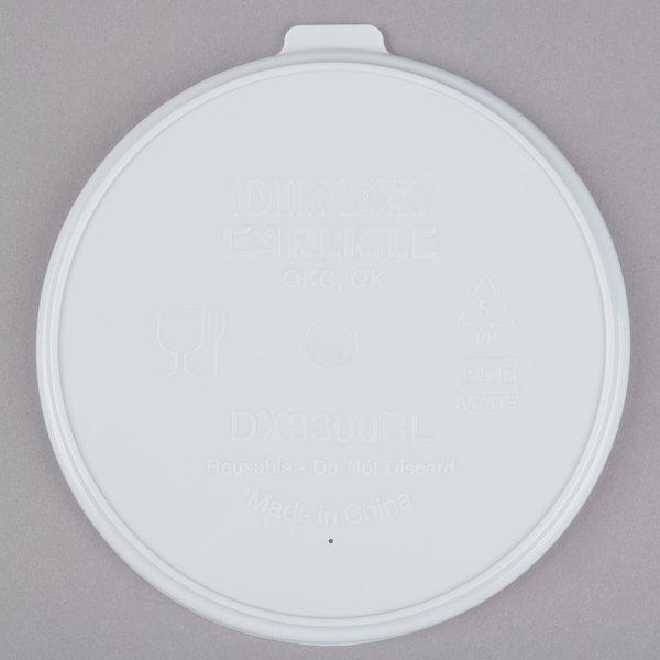 Dinex DX3300RL Turnbury Translucent Reusable Lid for Dinex DX3300 Turnbury 9 oz. Insulated Pedestal Based Bowl - 250/Case