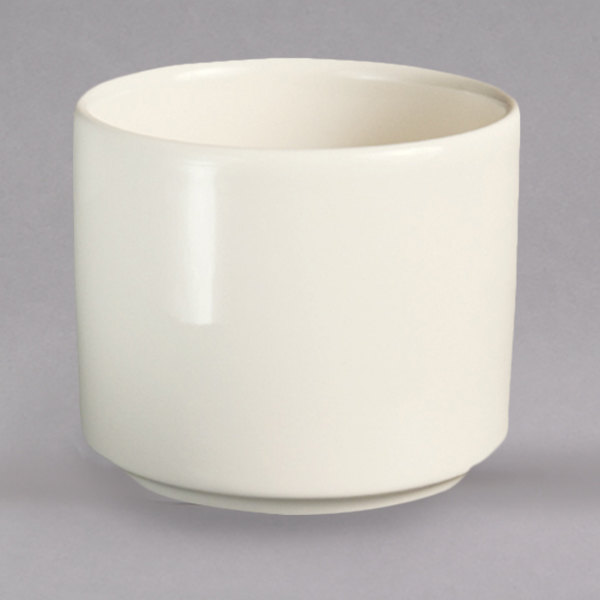 Homer Laughlin HL12032100 RE-21 11 oz. Ivory (American White) Stackable China Bouillon Cup - 36/Case Main Image 1