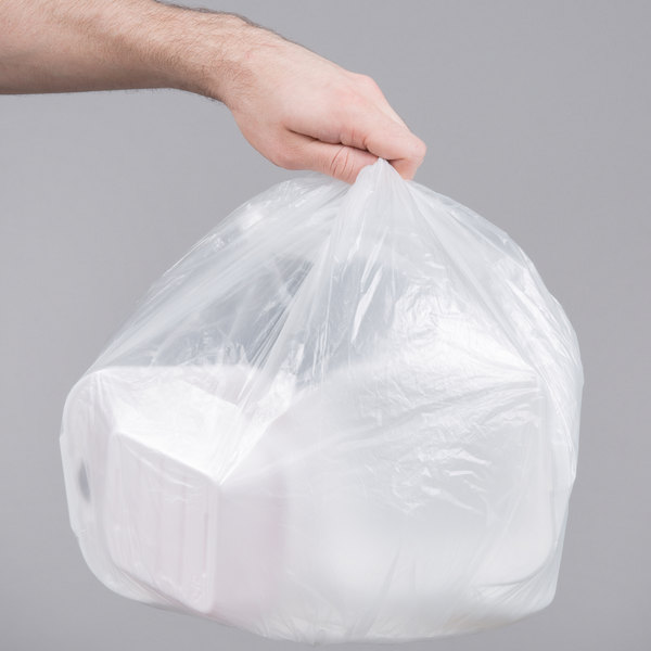 """7 Gallon 6 Micron 20"""" x 22"""" Lavex Janitorial High Density Can Liner / Trash Bag - 2000/Case"""