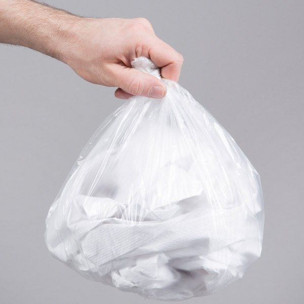 """4 Gallon 6 Micron 17"""" x 18"""" Lavex Janitorial High Density Can Liner / Trash Bag - 2000/Case"""