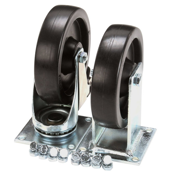 """Anets B39021176 5"""" Rigid Plate Casters - 2/Set Main Image 1"""