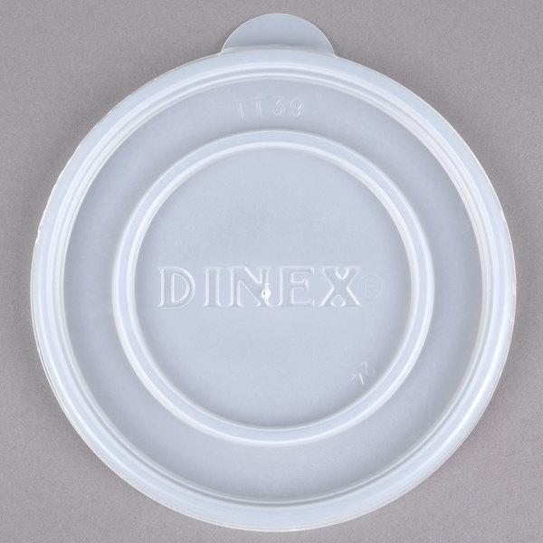 Dinex DXTT39 Translucent Disposable Lid for Dinex DX4B Tradition 8 oz. Insulated, Soup Bowl - 1000/Case