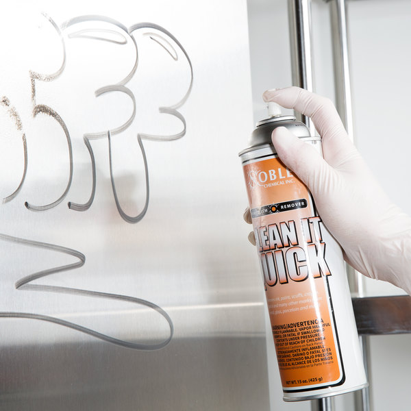 Noble Chemical Clean-It-Quick Vandalism Mark Remover - Aerosol 15 oz.