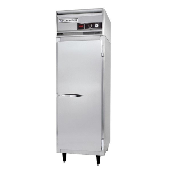 Beverage Air PH1-1S One Section Solid Door Reach-In Heated Holding Cabinet - 21.5 cu. ft., 1500W