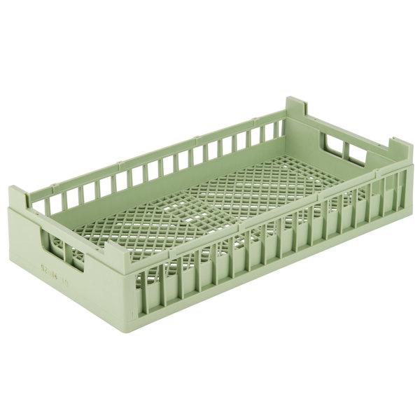 Vollrath 52804 Signature Half-Size Light Green Flatware Rack