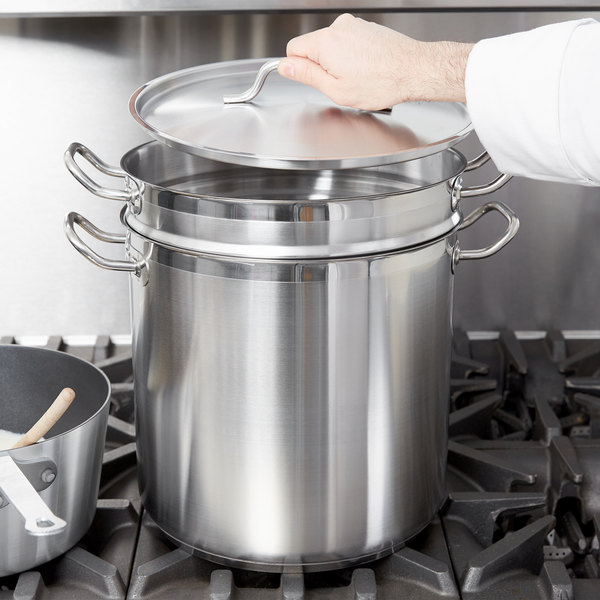20 Qt. Stainless Steel Pasta Cooker Combination