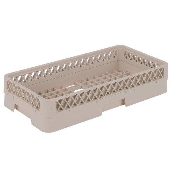 """Vollrath HR1AAA Traex® Half-Size Beige 7 5/16"""" Open Rack with 3 Extenders"""