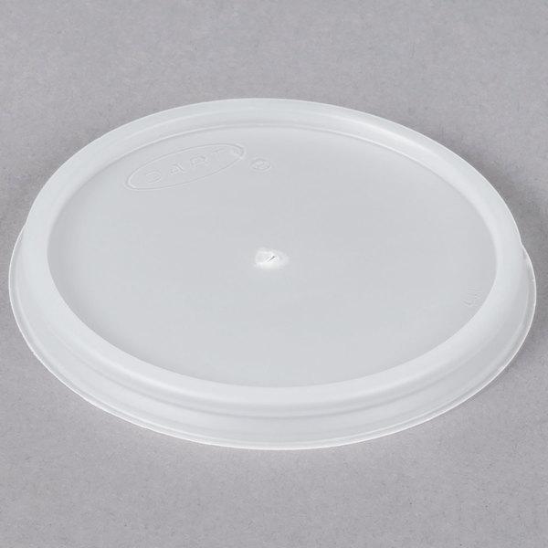 Dart 4JL Translucent Vented Lid - 100/Pack Main Image 1