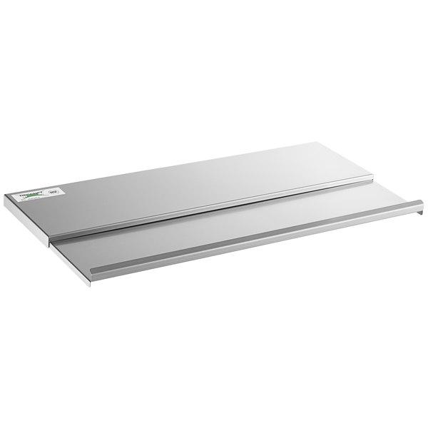 "Regency Stainless Steel Sliding Lid for 18"" x 30"" Underbar Ice Bin Main Image 1"