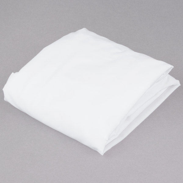 "L.A.Baby 100% White Cotton 27"" x 52"" Fitted Crib Sheet Main Image 1"