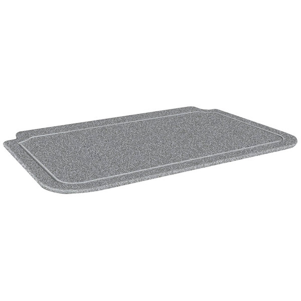 "Hatco CB3624GGRAN 36"" x 24"" Swanstone Gray Granite Cutting Board with Juice Groove for DCSB400-3624-2 Carving Station"
