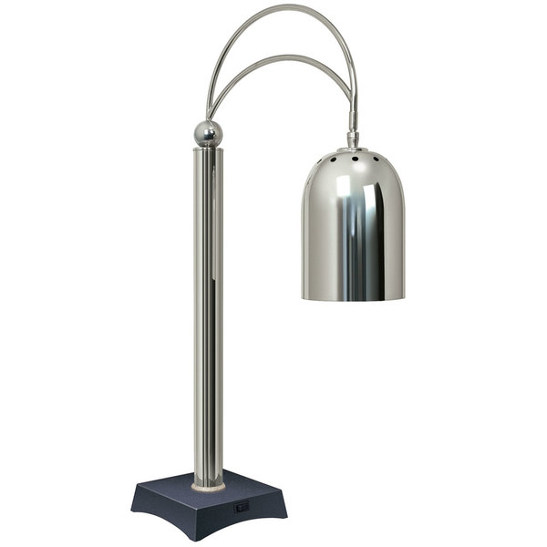 Hatco DCS400-1 Decorative Carving Station Lamp with Bermuda Sand-Colored Base and Bright Nickel Finish - 120V, 250W