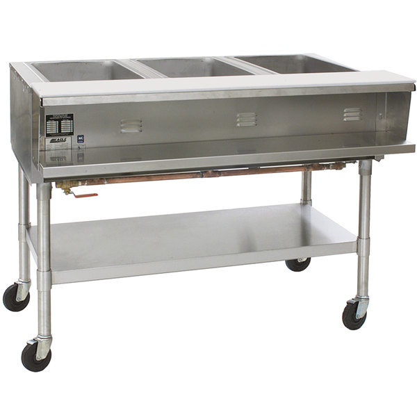 Eagle Group SPHT3 Portable Steam Table - Three Pan - Sealed Well, 208V, 1 Phase