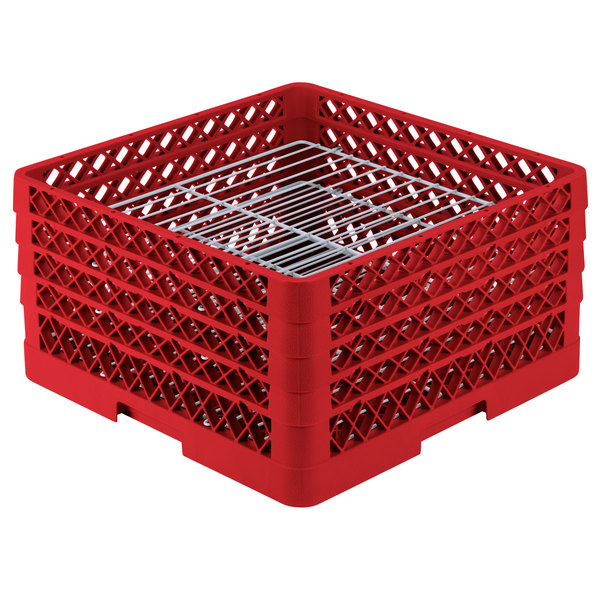 Vollrath PM3008-4 Traex® Plate Crate Red 30 Compartment Plate Rack - Holds 8\  to 8 ...  sc 1 st  WebstaurantStore & Vollrath PM3008-4 Traex® Plate Crate Red 30 Compartment Plate Rack ...