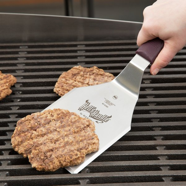 "Mercer Culinary M18280 Hell's Handle® High Heat 5"" x 4"" Heavy-Duty Square Edge Turner Main Image 3"