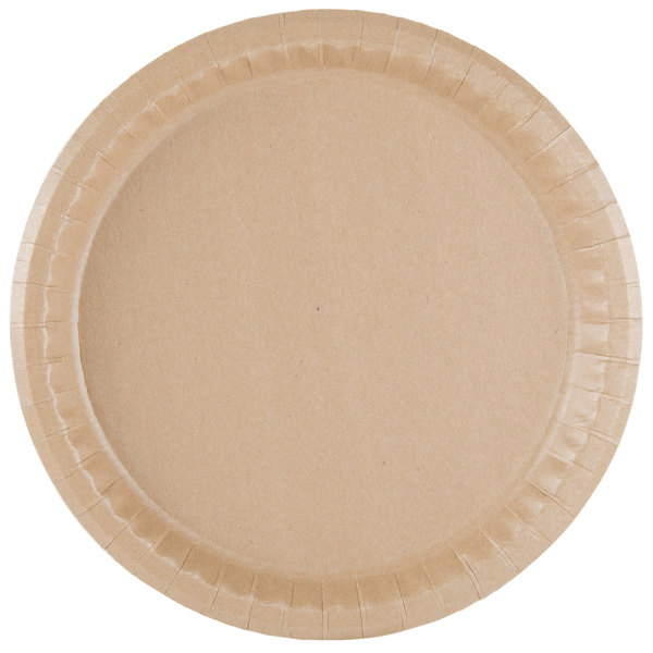 Get the convenience of disposable products without harming the earth with this Solut 20020 10 1/4\  coated kraft paper plate.  sc 1 st  WebstaurantStore & Solut 20020 10 1/4\