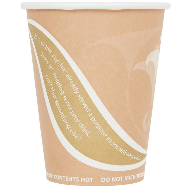 Eco Products EP-BRHC8-EW Evolution World PCF 8 oz. Paper Hot Cup - 50/Pack