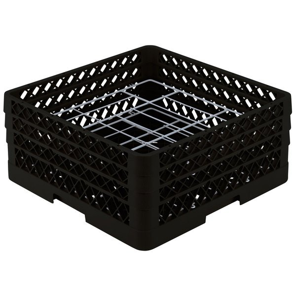 """Vollrath PM2006-3 Traex® Plate Crate Black 20 Compartment Plate Rack - Holds 4 3/4"""" to 6 1/2"""" Plates"""
