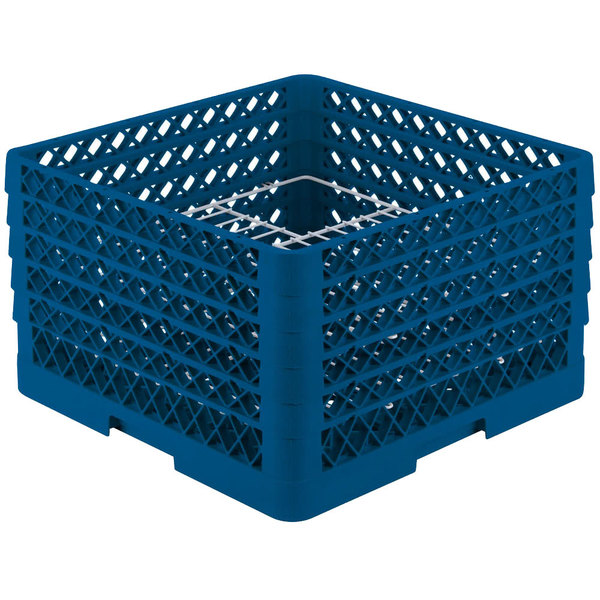 """Vollrath PM2011-5 Traex® Plate Crate Royal Blue 20 Compartment Plate Rack - Holds 10"""" to 10 3/4"""" Plates Main Image 1"""