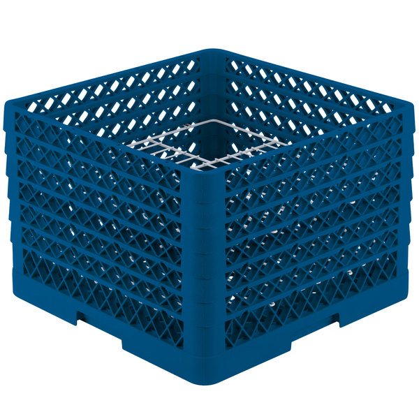 "Vollrath PM2011-6 Traex® Plate Crate Royal Blue 20 Compartment Plate Rack - Holds 10 3/4"" to 11"" Plates Main Image 1"