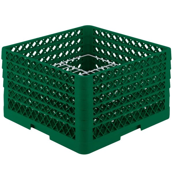 """Vollrath PM2011-5 Traex® Plate Crate Green 20 Compartment Plate Rack - Holds 10"""" to 10 3/4"""" Plates"""
