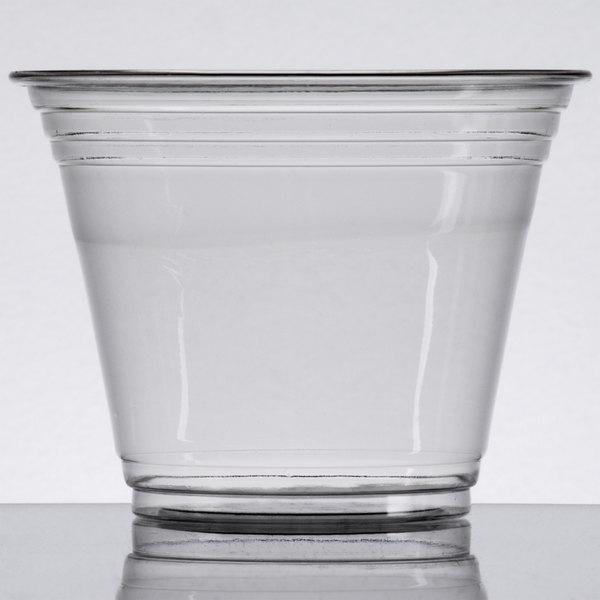 Choice 9 oz. Clear PET Plastic Squat Cold Cup - 1000/Case