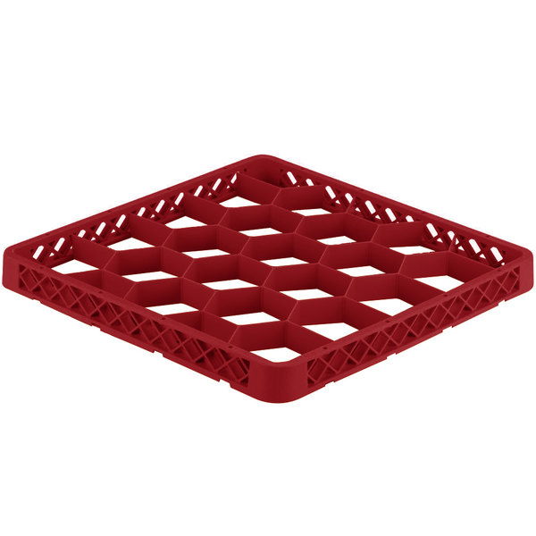 Vollrath TRG-02 Traex® Full-Size Red 20 Compartment Glass Rack Extender