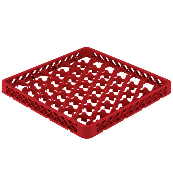 Vollrath TRM-02 Traex® Full-Size Red 42 Compartment Glass Rack Extender Main Image 1
