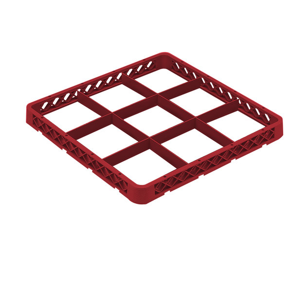 Vollrath TRF-02 Traex® Full-Size Red 9 Compartment Glass Rack Extender