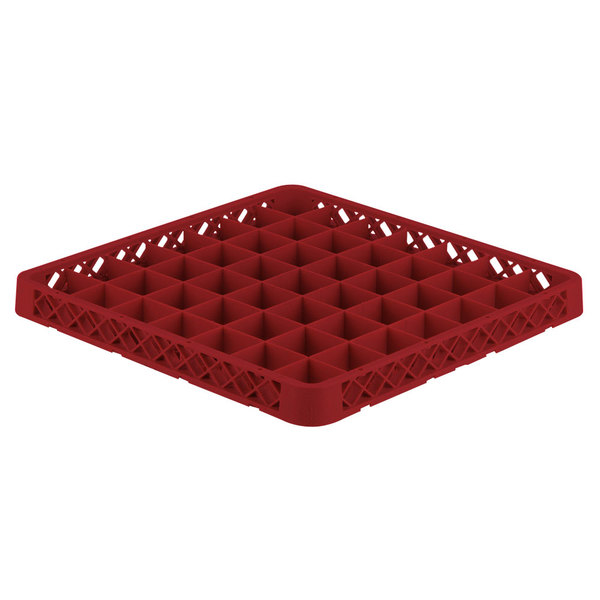 Vollrath TRE-02 Traex® Full-Size Red 49 Compartment Glass Rack Extender Main Image 1