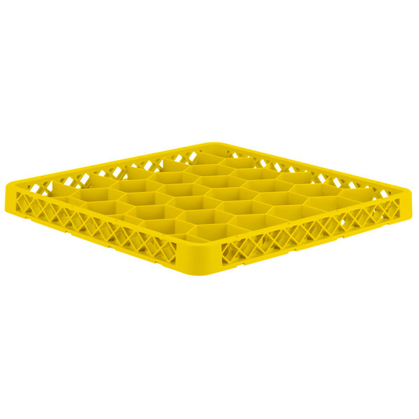 Vollrath TRH-08 Traex® Full-Size Yellow 30 Compartment Glass Rack Extender Main Image 1