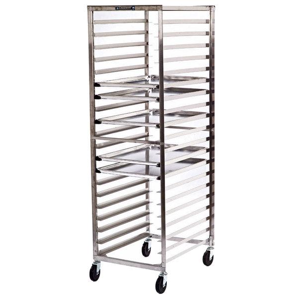 Lakeside 129 41 Pan End Load Stainless Steel Bun / Sheet Pan Rack - Assembled Main Image 1