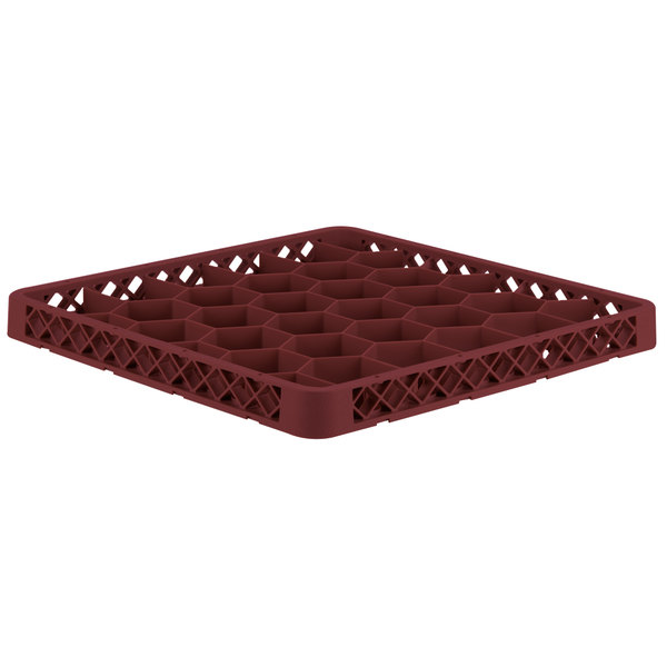 Vollrath TRH-21 Traex® Full-Size Burgundy 30 Compartment Glass Rack Extender Main Image 1